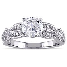 Miadora Signature Collection 14k White Gold 1 1/4ct TDW Diamond Braided Engagement Ring (G-H, I1-I2) (Size 10), Women's