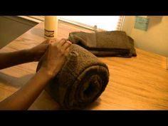 towel cake tutorial - YouTube