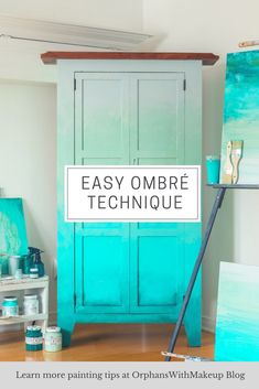 EASY OMBRÉ ARMOIRE MAKEOVER