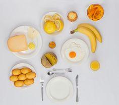 Одноцветный завтрак (4 фото)