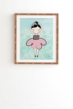 Dash and Ash Ballerina Heart Framed Wall Art   DENY Designs Home Accessories