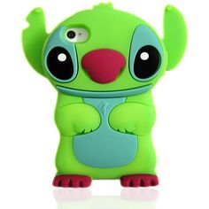 Disney 3D Stitch Movable Ear Silicone Soft Case Cover for Iphone... ($8.73) ❤ liked on Polyvore featuring accessories, tech accessories, phone cases, electronics, iphone, lilo and stitch и disney