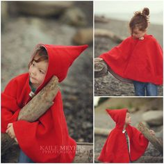 Big Little: Little Red Riding Hood Cape Pattern - I need this for next winter!