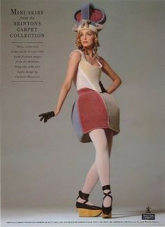 How clever is Vivienne Westwood? She has used beautiful wool carpet fabric and designed a fashion range around it! Quirky Fashion, Punk Fashion, Timeless Fashion, Fashion Show, Vintage Fashion, Fashion Tips, Fashion Design, Circus Fashion, Elizabethan Fashion