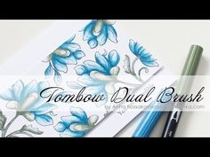 Altenew and Tombow Collaboration Blog Hop + VIDEO — Anna Kossakovskaya Tombow Markers, Brush Pen Art, Watercolor Brush Pen, Tombow Dual Brush Pen, Brush Markers, Blender Pen, Altenew Cards, Coloring Tutorial, Card Making Techniques