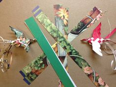 Calendar Birds - hand woven from recycled calendars... so cute!