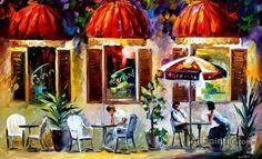 Leonid Afremov Espresso Paris oil painting reproductions for sale