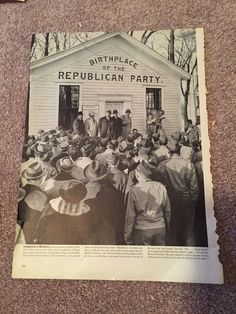 A personal favorite from my Etsy shop https://www.etsy.com/listing/253622058/republican-magazine-photo
