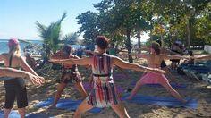 NRG2GO Instructor Amy Joy Erickson and Oscar Lora at Gran Ventana Beach Resort.
