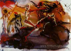 Salvador Dali 'The Horseman of the Apocalypse', 1970
