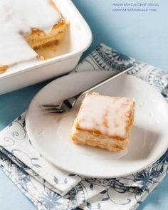 Amarula custard slices