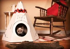 The Cat Tepee Gets Your Cat off of the Couch and into a Place of Its Own #pets