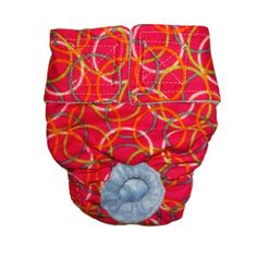Circles on Pink Washable Cover-up / Diaper