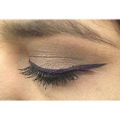 ¡Así de lindo se ve el Delineador en Crema Punk Purple! #elfcosmetics #eyeliner