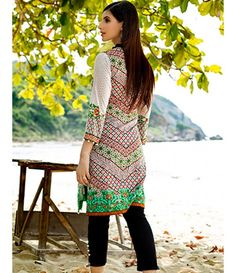 Tanzaib Kurti Shalwar Collection 2016 by Shaista Textiles D_115