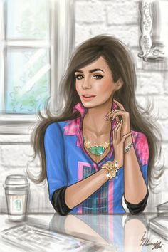 For some reason, this looks a bit like Lily Collins (to me). :p