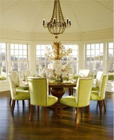 Sunny Transitional Dining Room by Kathleen Hay on HomePortfolio