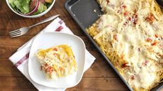 White pizza toppings like creamy Alfredo sauce, chicken, bacon and mozzarella get piled onto a tasty spaghetti crust to make a meal that'll become a family favorite in the dinner rotation.