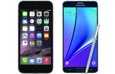 iPhone 6 Plus vs. Galaxy Note Here's how the world's two best phablets stack up Galaxy Note 5, Iphone 6, Phone Hacks, Best Android, 3 Things, 6s Plus, Smartphone, Gadgets, Notes