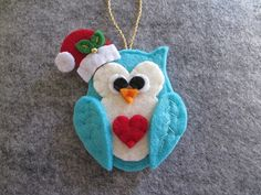 Felt Christmas Ornament Christmas Ornament by TinyFeltHeart                                                                                                                                                                                 More