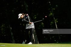 Pornanong Phatlum of Thailand hits her second shot on the first hole during the third round of the Thornberry Creek LPGA Classic at Thornberry Creek at Oneida on July 8, 2017 in Oneida, Wisconsin.
