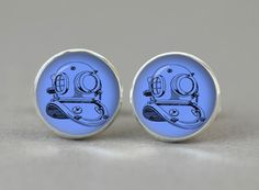 Antique Diver Head Cufflinks Sea cuff links men women  by Monedus