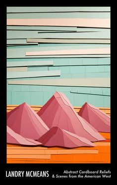 Landry McMeans abstract cardboard reliefs