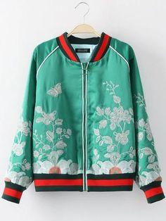 aHR0cHMlM0ElMkYlMkZpbWcuc2hlaW4uY29tJTJGaW1hZ2VzJTJGc2hlaW4uY29tJTJGMjAxNjA3JTJGMTQ2ODkwMDQ3OTk4NTgyMjk0Ni5qcGclM0Z1cmxfZnJvbSUzRHNoYXJlYXNhbGVwcm8xNjA4MDM= (461×614) Embroidered Bomber Jacket, Satin Bomber Jacket, Rain Jacket, Fashion Me Now, Womens Fashion, We Wear, Adidas Jacket, Windbreaker, Crew Neck