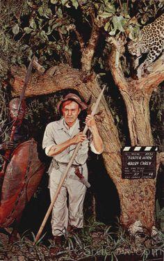 Harry Carey Suicide   Harry Carey in Trader Horn, Movieland Wax Museum Buena Park California