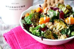 Copycat Starbucks Hearty Veggie and Brown Rice Salad Bowl | 24 Healthy Rice Bowls You Should Eat For Dinner