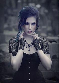 Model, stylization: Katarzyna 'Daedra' Make-up: Pałasz Paulina - MAKE UP Artist Hairstyle: Katarzyna Przełożny Photographer: Photobscure Welcome to Gothic and Amazing  www.gothicandamazing.org