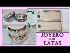 How to make a Jeweler recycling cans. Nifty Diy, Recycle Cans, Desktop Organization, Cardboard Crafts, Sewing Box, Jewellery Storage, Jewelry Box, Easy Diy Crafts, Craft Sale