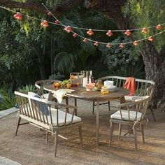 A fresh take on the timeless picnic table, the expandable Dexter Dining Table is made from sustainably-harvested wood in an airy driftwood finish that's weather-resistant. Handsome as it is durable, it seats up to 6 and works equally well indoors, too.