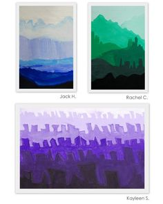 The New Hope Art Gallery: Middle School Art: Tint and Shade Landscapes