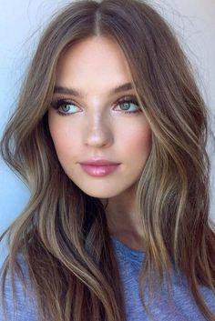 Hair color natural brown