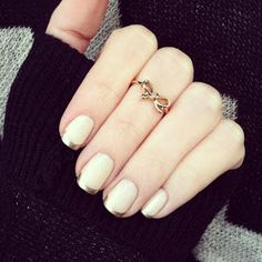 Gold tipped French manicure: Southern Curls & Pearls