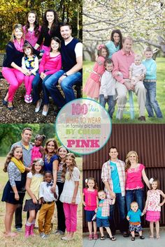 Pink clothing choices - ideas for what to wear for your family photo from Capturing Joy with KristenDuke.com Family Photography Outfits, Clothing Photography, Family Photo Sessions, Family Posing, Family Portraits, Photography Ideas, Family Picture Colors, Family Picture Outfits, Picture Day
