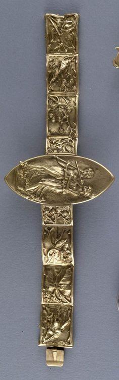 René Lalique-Art Nouveau gold bracelet