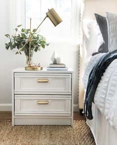 We're sharing a tutorial on restoring and lacquering thrifted furniture. You won't want to miss the before and after of these bamboo nightstands!