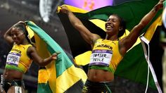 427cf72b24ae Shelly-Ann Fraser-Pryce 100M Gold Medalist and Veronica Campbell-Brown