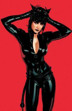 Catwoman art by Adam Hughes Batman DC Comics Catwoman Cosplay, Batman Et Catwoman, Cosplay Gatúbela, Batman 1, Dc Batgirl, Spiderman, Cosplay Costumes, Cosplay Ideas, Cosplay Girls