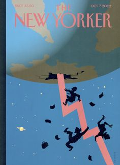 "The New Yorker - Monday, October 7, 2002 - Issue # 4001 - Vol. 78 - N° 30 - Cover ""Down and Out"" by Christoph Niemann"