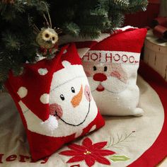 Glitzhome Handmade Hooked Christmas Pillow Christmas Cushions, Christmas Pillow, Christmas Snowman, Christmas Ornaments, Christmas Countdown, Xmas, Christmas Sewing, Christmas Crafts For Kids, Christmas Projects