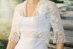 56 Best ideas for crochet shrug wedding dresses Lace Bolero, Bolero Jacket, Crochet Toddler Dress, Crochet Lace, Irish Crochet, Special Occasion Dresses, Bridal Dresses, Wedding Bolero, Evening Dresses
