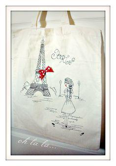 hand drawing Edushka shop bag
