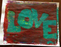 #love #gelliprinting