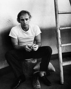 "Marlon Brando on the set of ""Last Tango in Paris"""