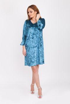 Rochie eleganta albastra din catifea CSF-204 -  Ama Fashion Cold Shoulder Dress, Dresses, Fashion, Vestidos, Moda, Fashion Styles, Dress, Fashion Illustrations, Gown