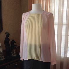 Zara woman pleated top Looks new. Probably worn just once.               b Zara Woman Tops Blouses