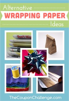 Alternative Wrapping Paper Ideas - use common household items to wrap gifts. Be creative and save money! Homemade Ornaments, Homemade Christmas, Diy Christmas Gifts, Winter Christmas, Homemade Gifts, Christmas Wrapping, Christmas Cookies, Toddler Gifts, Gifts For Kids